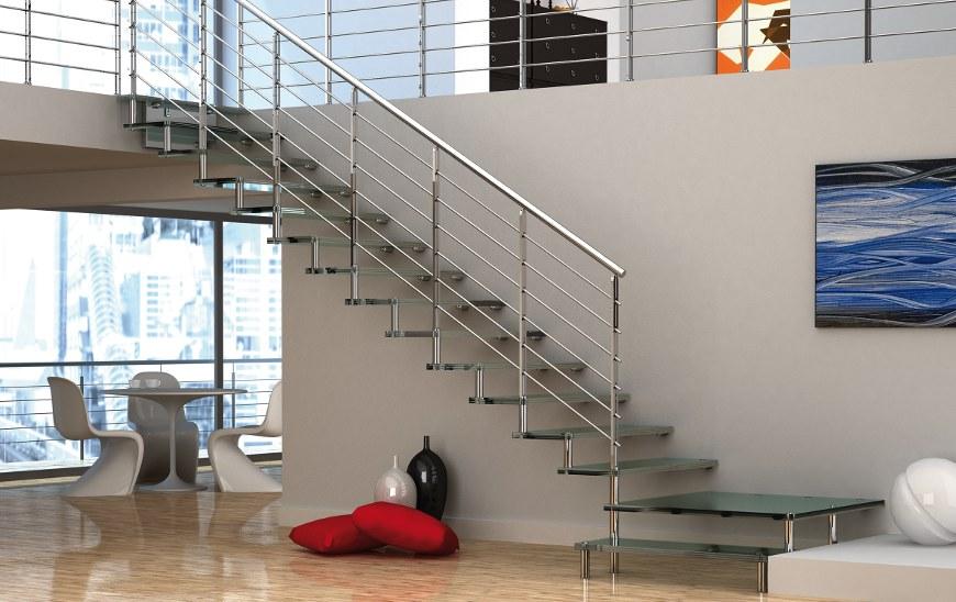 Bracco srl scale interne vendita e installazione novara - Corrimano in vetro per scale ...